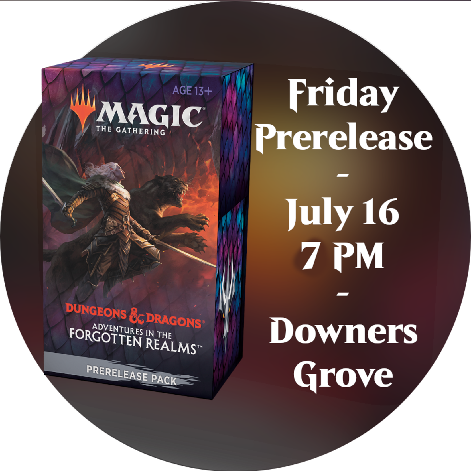 Admission: Forgotten Realms Friday Sealed Deck Prerelease (7 PM, Downers Grove)