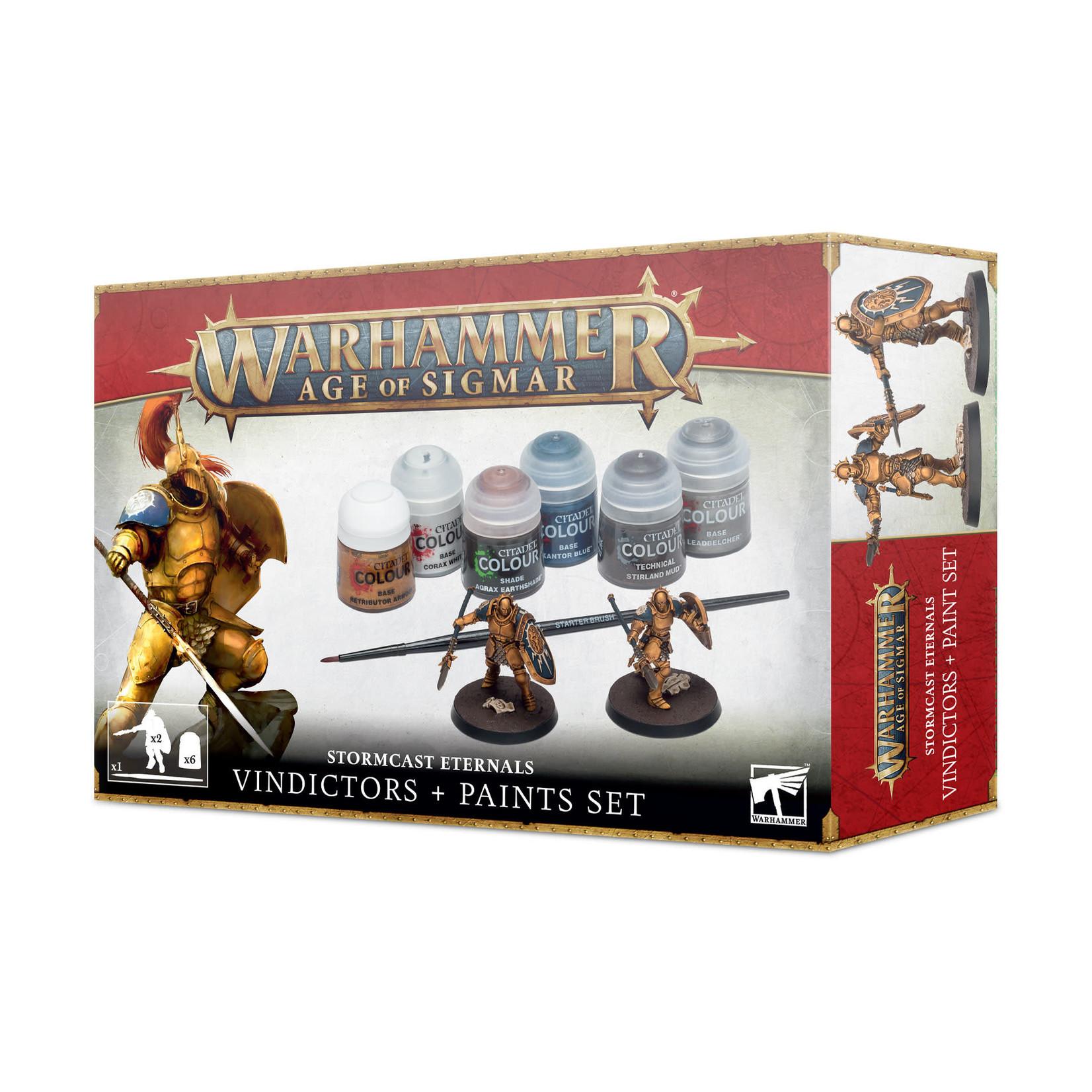 Games Workshop Warhammer Age of Sigmar: Stormcast Eternals - Vindictors + Paints Set