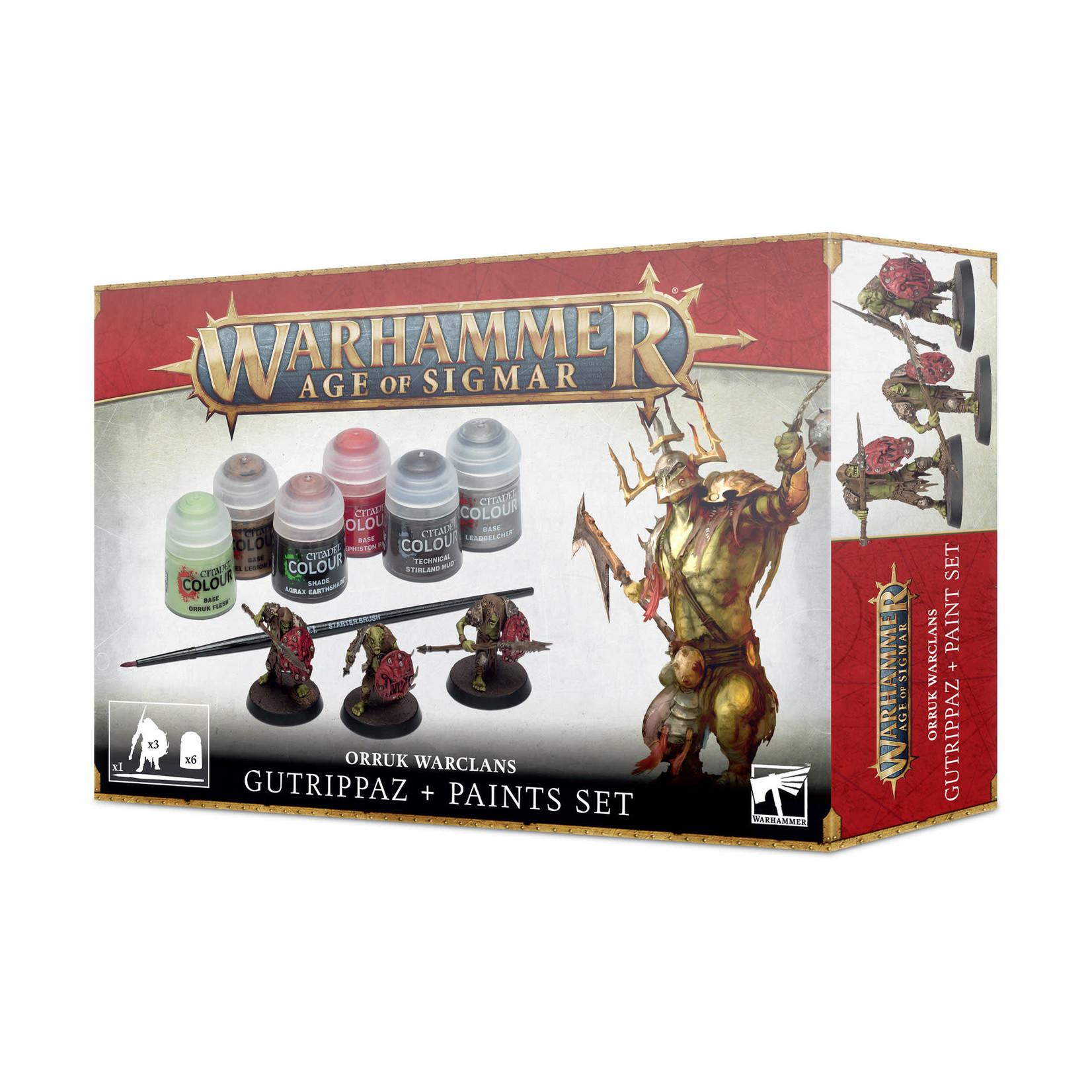 Games Workshop Warhammer Age of Sigmar: Orruk Warclans - Gutrippaz + Paints Set
