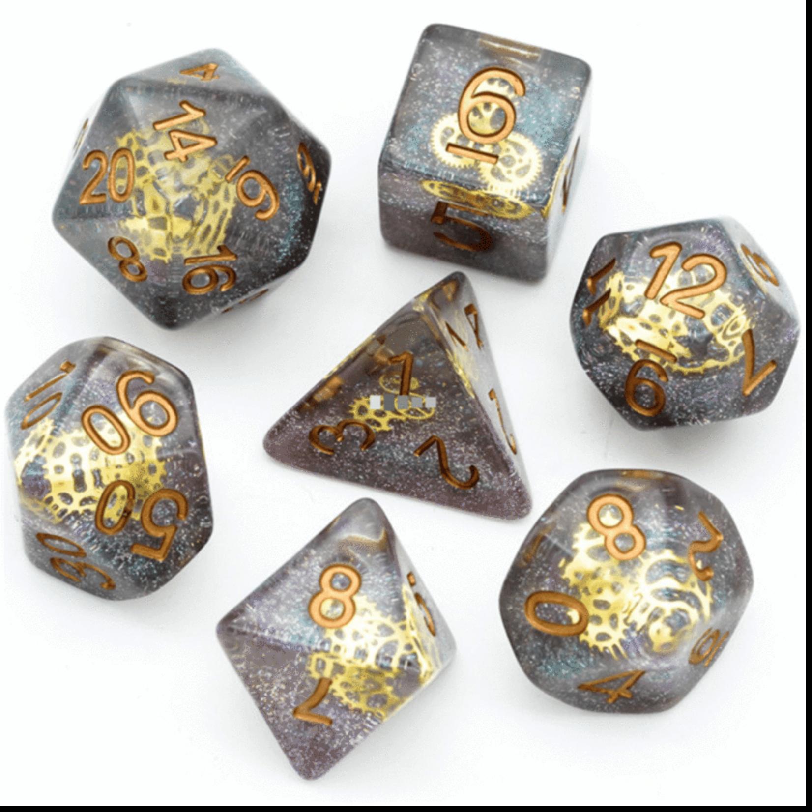 Foam Brain FB Glitter Gearwheel RPG Dice Set
