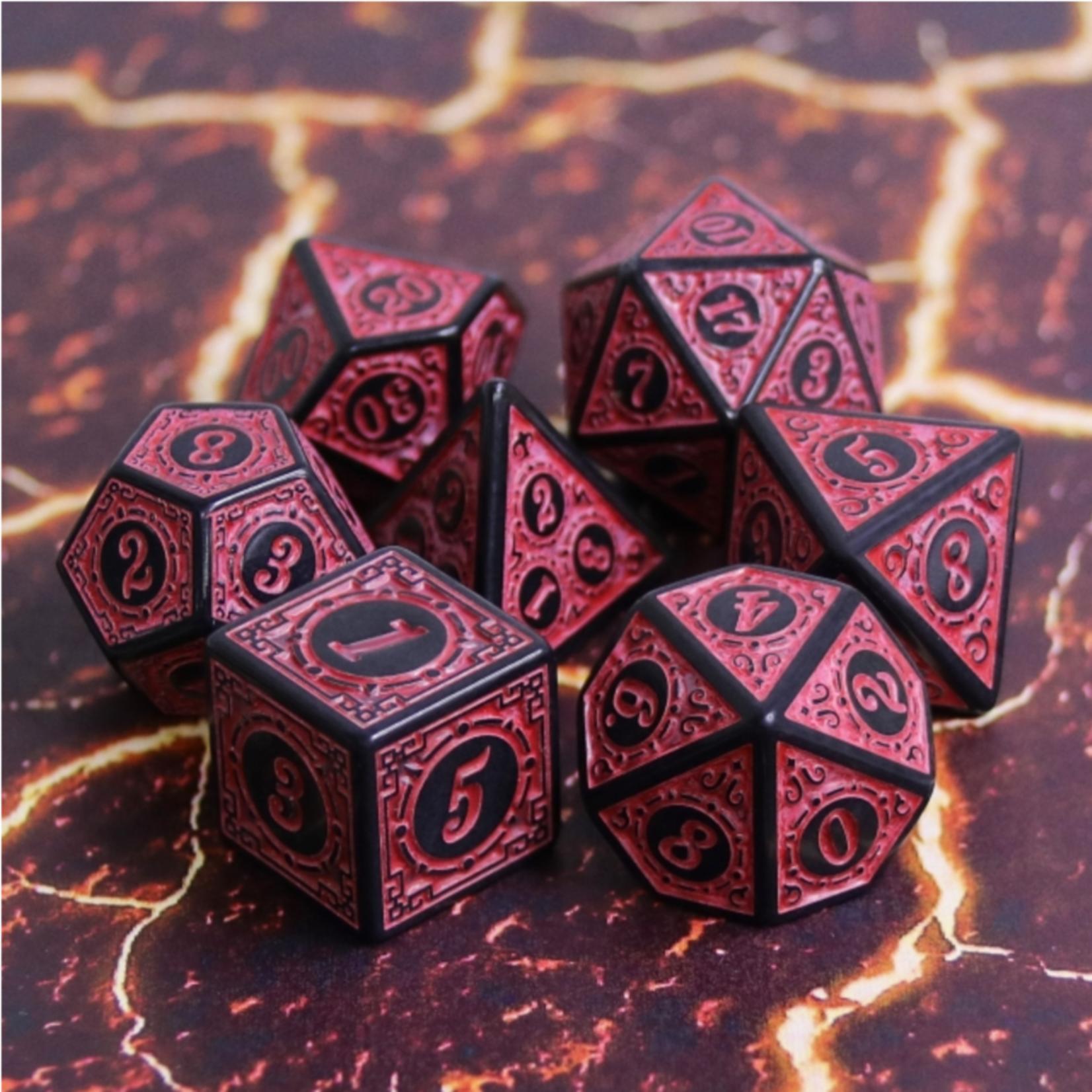 Foam Brain FB Magic Flame - Red RPG Dice Set