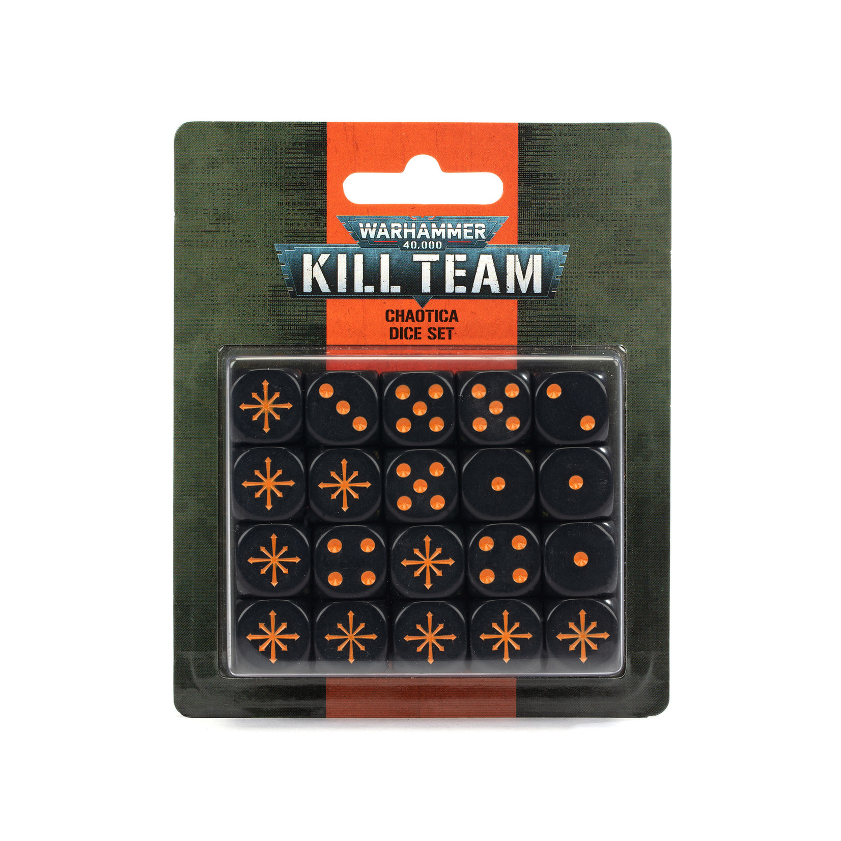 Games Workshop Warhammer 40k: Kill Team - Chaotica Dice Set