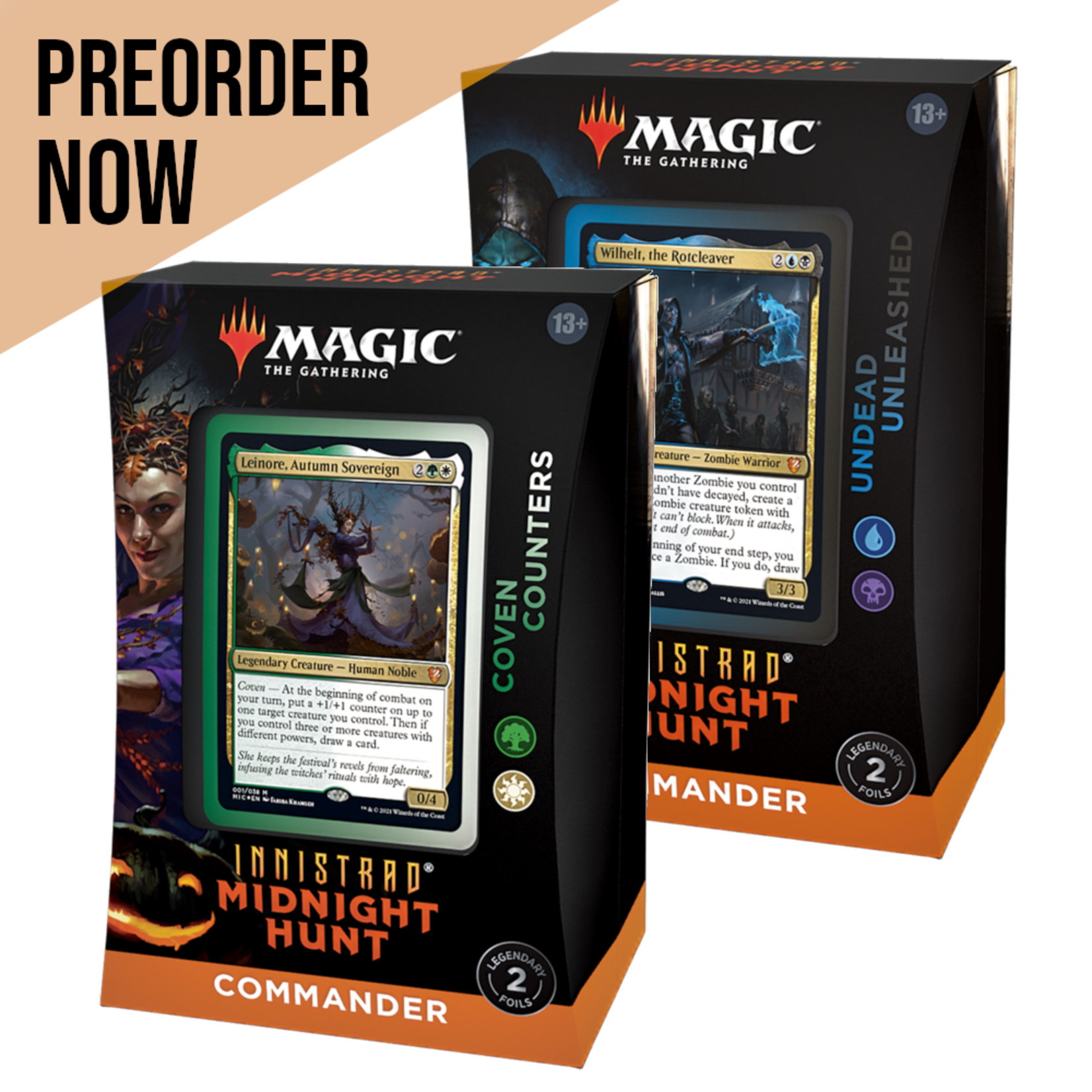 Wizards of the Coast Magic the Gathering: Midnight Hunt - Commander Decks (Set of 2)