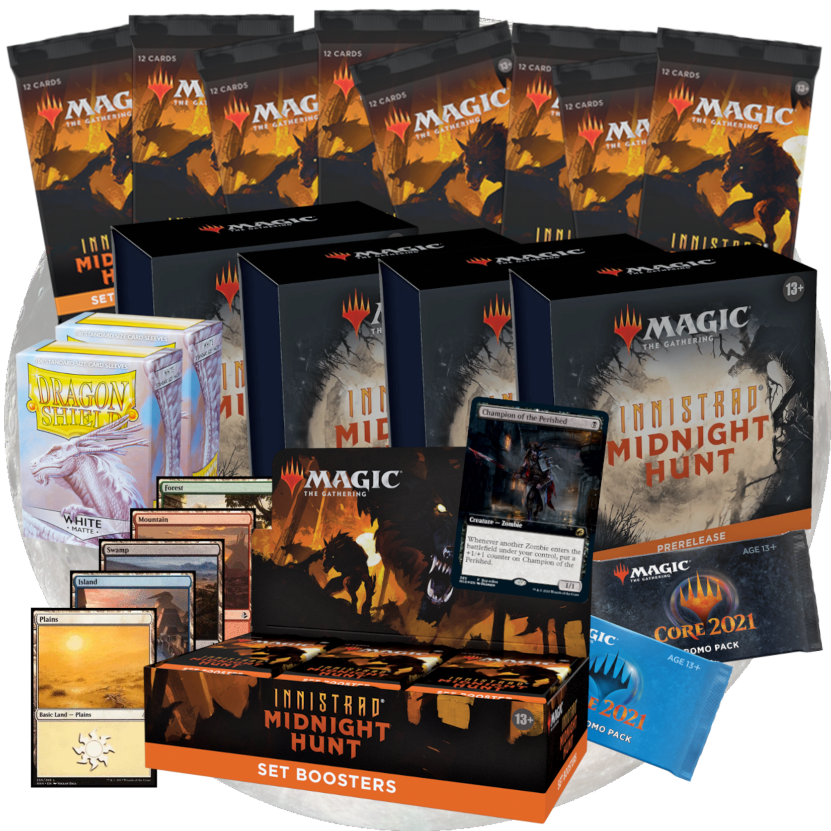 Wizards of the Coast Magic the Gathering: Midnight Hunt - Premium At- Home Prerelease Package