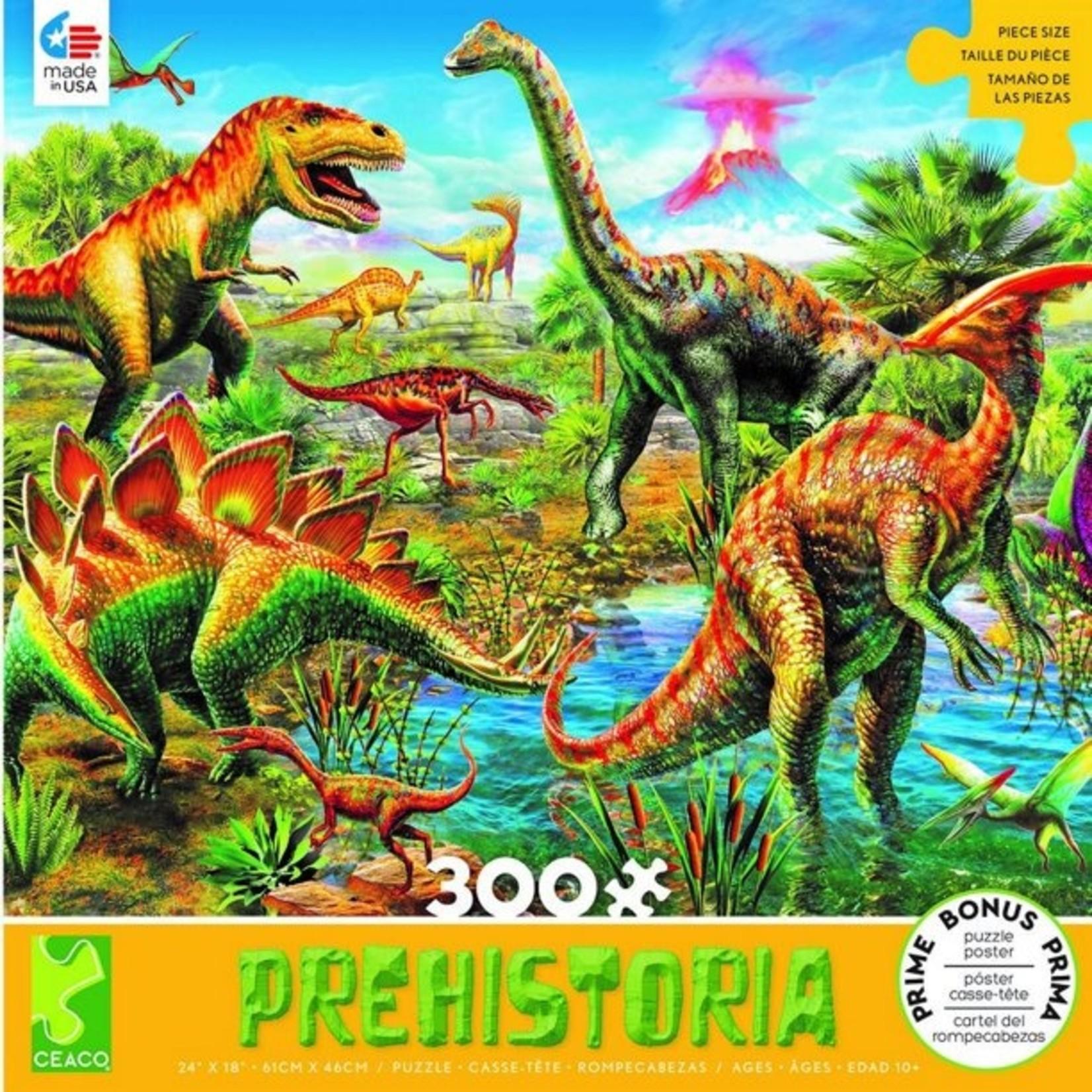 ceaco Ceaco - 300 Piece Puzzle: Prehistoria - Jurassic Playground