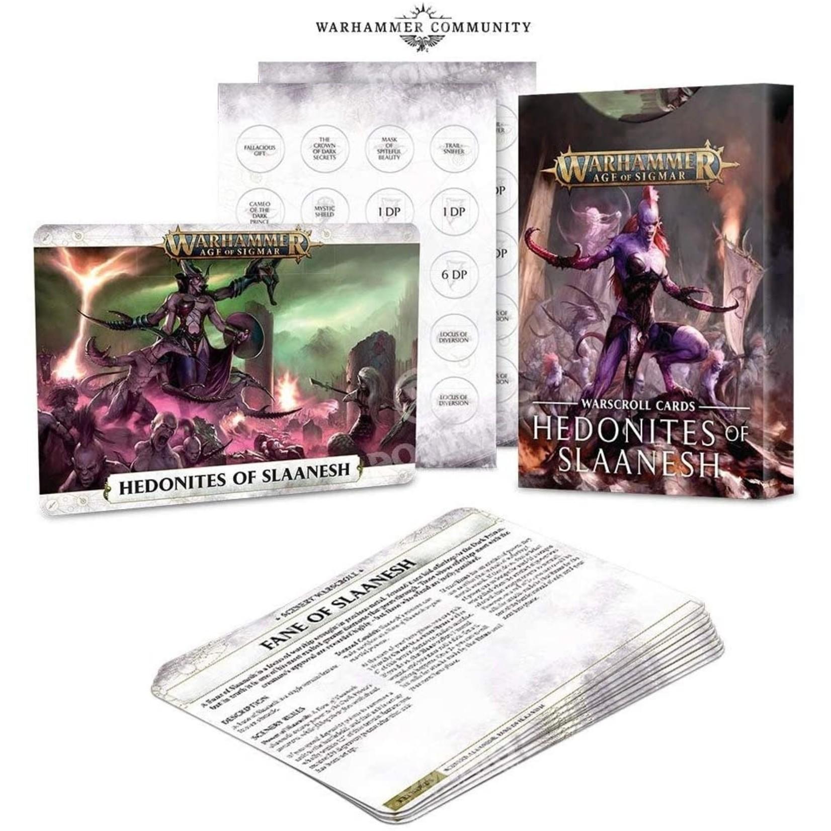 Games Workshop Warscroll Cards: Hedonites of Slaanesh