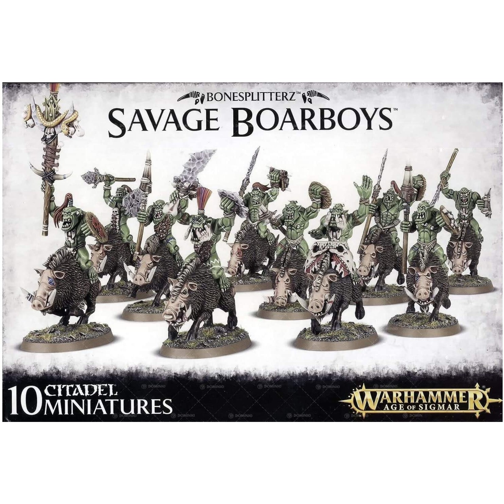 Games Workshop Warhammer Age of Sigmar: Bonesplitterz Savage Boarboys