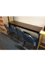 6' folding table / w 4 chairs
