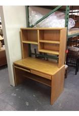 2 drawer desk /  oak w hutch