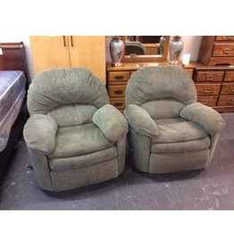 Rocker recliner / swivel n green
