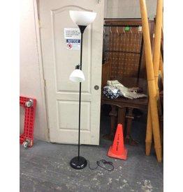 Floor lamp / black 2 bulb