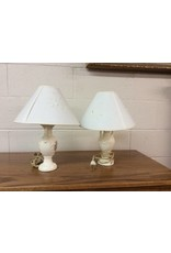 Pair lamps / small white