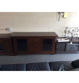 TV stand / espresso 2 door
