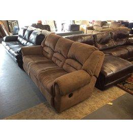 Dual reclining sofa / green tweed - 12