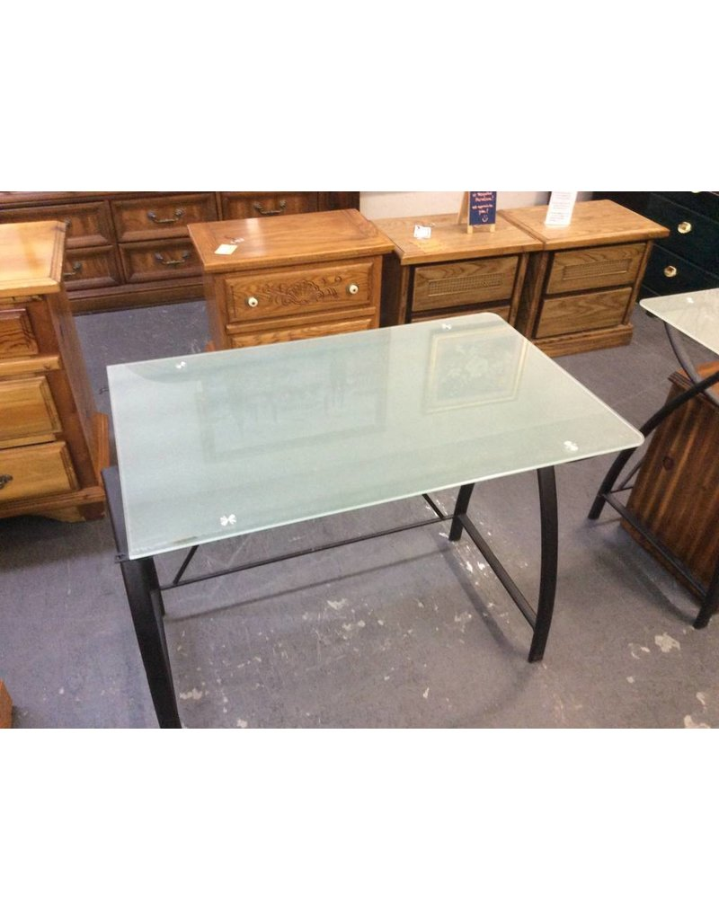 Desk glass metal
