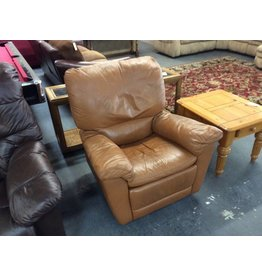 Swivel rocker recliner butterscotch faux
