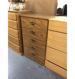 5 drawer chest / oak wrap - 21