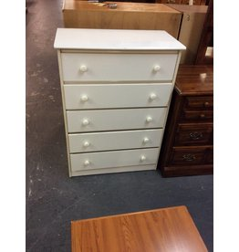 5 drawer chest / white - 21