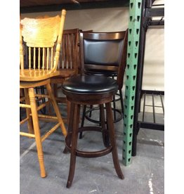 Single swivel barstool / cherry padded