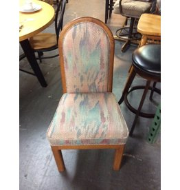Pair chairs / dining purple n wood