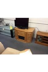 TV stand/ 1 door, 2 drawer oak