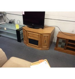 TV stand/ 1 door, 2 drawer oak