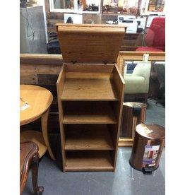 Storage cabinet / oak wrap w lid