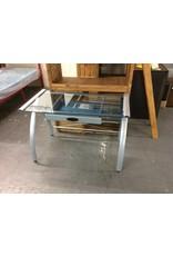 Single drawer desk / glass n metal