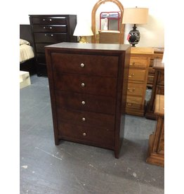 5 drawer chest / cherry - 27.       EO