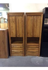 6', 2 door, 2 drawer oak cabinets