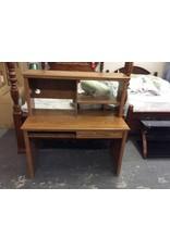2 drawer desk w hutch - oak wrap