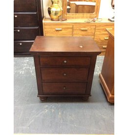 3 drawer nightstand / cherry - 6