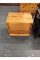 Single nightstand / oak 2 drawer