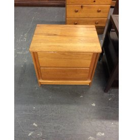 Single nightstand / oak 2 drawer