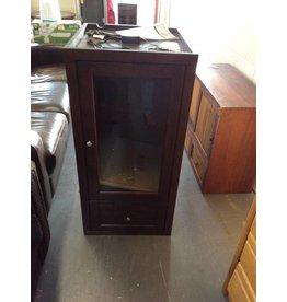 1 door, 1 drawer espresso cabinet