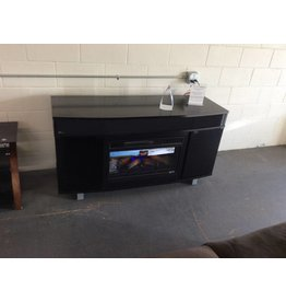 Black Fireplace Tv Stand W Bluetooth