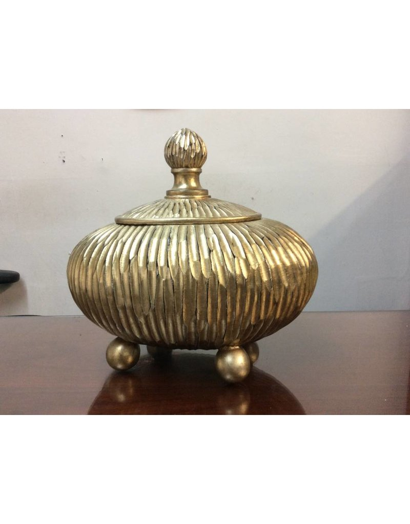 Heavy Decorative Urn with Lid