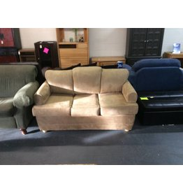 Sofa w full size bed /  tan suede