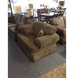 Oversized chair / green tweed - 22