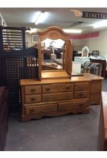 8 drawer dresser / oak w mirror - 26