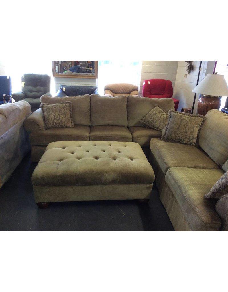 Sofa Green Tweed W Otto 28 Recycled Furniture