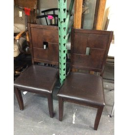 5 chairs / dark cherry padded