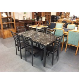 7 piece dinette faux n metal