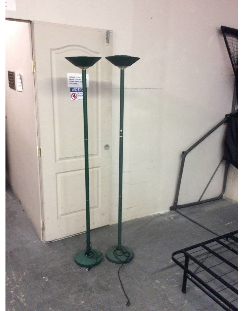 Pair of lamps / green halogen