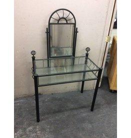 Vanity / glass n metal