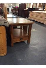 End table / 1 drawer oak mission