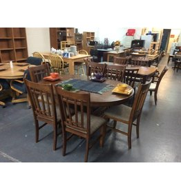 7 piece dinette / mission oak padded