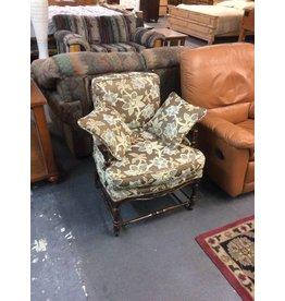 Chair / brown floral