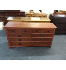8 drawer dresser / cherry wrap