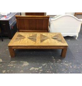 5' oak coffee table - 17
